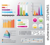big set of infographics... | Shutterstock .eps vector #237169651