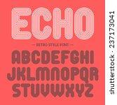 retro style font. vector. | Shutterstock .eps vector #237173041