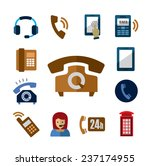 vector color phone icons set on ... | Shutterstock .eps vector #237174955