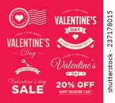 valentines day set of label ... | Shutterstock .eps vector #237178015