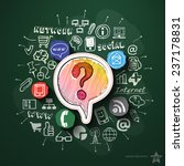 social media collage with icons ... | Shutterstock .eps vector #237178831