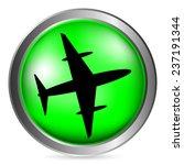 plane button on white... | Shutterstock .eps vector #237191344