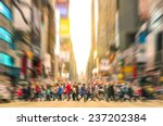 melting pot people walking on... | Shutterstock . vector #237202384