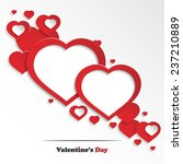 abstract valentine's day... | Shutterstock .eps vector #237210889