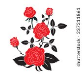 red rose motif flower... | Shutterstock .eps vector #237211861