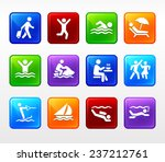 water sport and recreation... | Shutterstock .eps vector #237212761