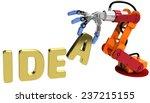 robot arm holding letter in... | Shutterstock . vector #237215155