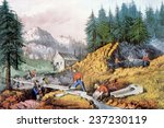 the gold rush  gold mining in... | Shutterstock . vector #237230119