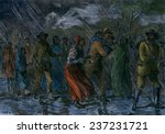 fugitive slaves fleeing from... | Shutterstock . vector #237231721