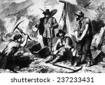 the gold rush  gold miners in... | Shutterstock . vector #237233431