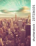 manhattan with vintage tone | Shutterstock . vector #237236101