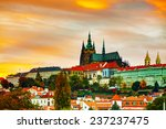 The Prague Castle Close Up At...