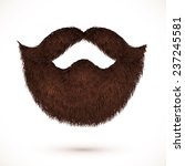brown vector mustaches and... | Shutterstock .eps vector #237245581