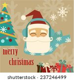 santa claus wishes merry... | Shutterstock .eps vector #237246499