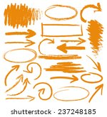 hand drawn highlighter elements ... | Shutterstock .eps vector #237248185