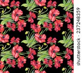 colorful floral seamless...   Shutterstock . vector #237248359