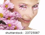 nice girl wearing makeup made...   Shutterstock . vector #23725087