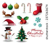 merry christmas vector... | Shutterstock .eps vector #237263674