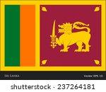 flag of sri lanka vector | Shutterstock .eps vector #237264181