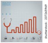 line diagram stethoscope health ... | Shutterstock .eps vector #237265969