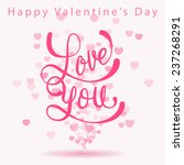 happy valentine's day card love ... | Shutterstock .eps vector #237268291