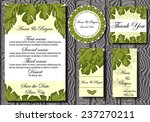 set of wedding invitation cards | Shutterstock .eps vector #237270211