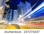 night busy traffic in the hong...   Shutterstock . vector #237273337