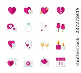 valentine's day icons   flat... | Shutterstock .eps vector #237273619