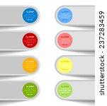 progress steps design element... | Shutterstock .eps vector #237283459
