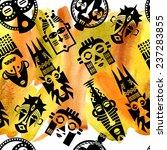 african masks. seamless... | Shutterstock . vector #237283855
