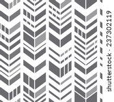 Seamless geometric zigzag pattern. Gray chevrons on white. Modern vector background | Shutterstock vector #237302119
