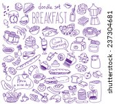 set of various doodles  hand... | Shutterstock .eps vector #237304681