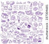 set of various doodles  hand...   Shutterstock .eps vector #237304681