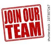 join our team grunge rubber... | Shutterstock .eps vector #237307267