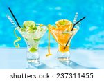 fresh lime and orange mojito...