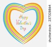 rainbow abstract heart frame....   Shutterstock .eps vector #237328864