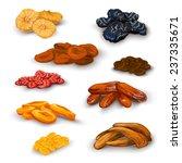 sun dried fruit healthy... | Shutterstock .eps vector #237335671