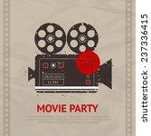 retro movie cinema production... | Shutterstock .eps vector #237336415