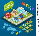 isometric geolocation concept... | Shutterstock .eps vector #237336529