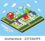isometric city concept with... | Shutterstock .eps vector #237336595