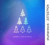 vector christmas trees... | Shutterstock .eps vector #237337924