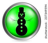 snowman button on white...   Shutterstock .eps vector #237349594
