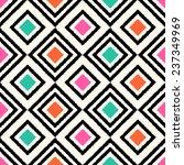 seamless geometric rhombus... | Shutterstock .eps vector #237349969