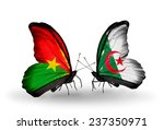 two butterflies with flags on...   Shutterstock . vector #237350971