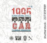 car service emblem in retro... | Shutterstock .eps vector #237359989