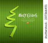 merry christmas origami green... | Shutterstock .eps vector #237366451