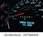change oil soon warning light... | Shutterstock .eps vector #237366541