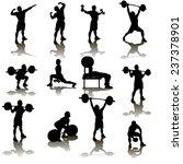 silhouette illustration of... | Shutterstock .eps vector #237378901