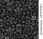 tattoo seamless pattern. vector ... | Shutterstock .eps vector #237379567