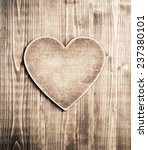 Wooden Heart Shape Background